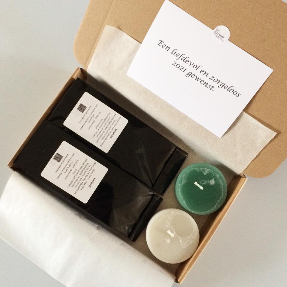 KerZZPakket leverancier Benieuwen stompkaarsen thee